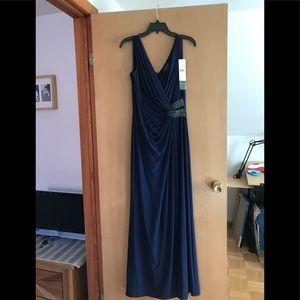 Ralph Lauren Navy Evening Gown